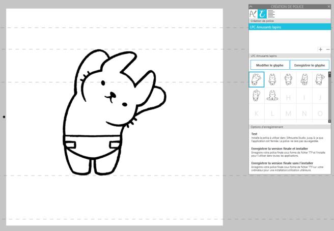 Créer directement le glyphe via les outils de dessin du logiciel