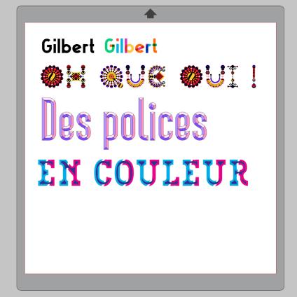 Support des polices colorées dans Silhouette Studio 4.2