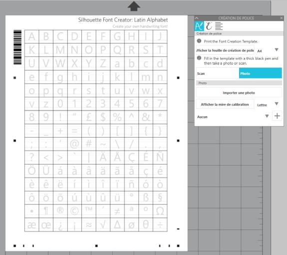 Gabarit imprimable pour transformer votre écriture en police de caractères