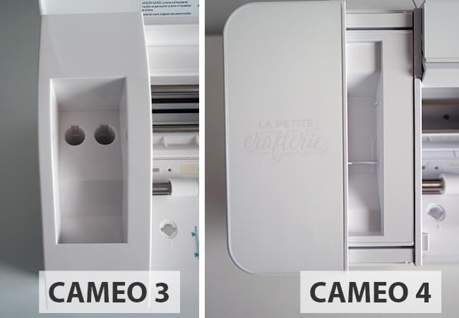 Cameo 3 vs Cameo 4 : Zone de rangement