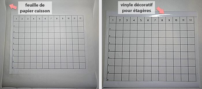 Feuille de papier de cuisson pour protéger le tapis de coupe