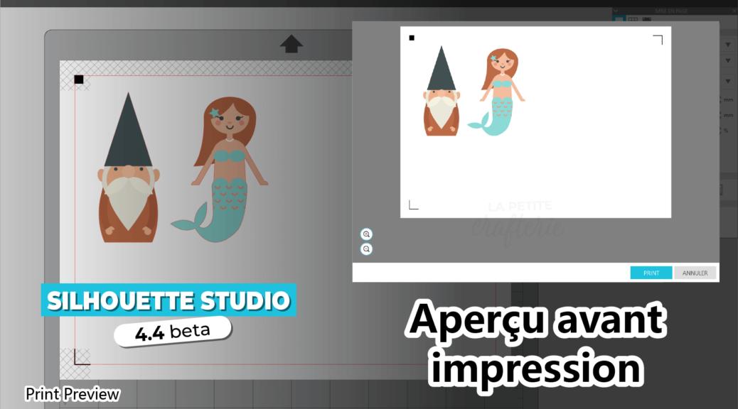 Silhouette Studio 4.4 - Aperçu avant impression
