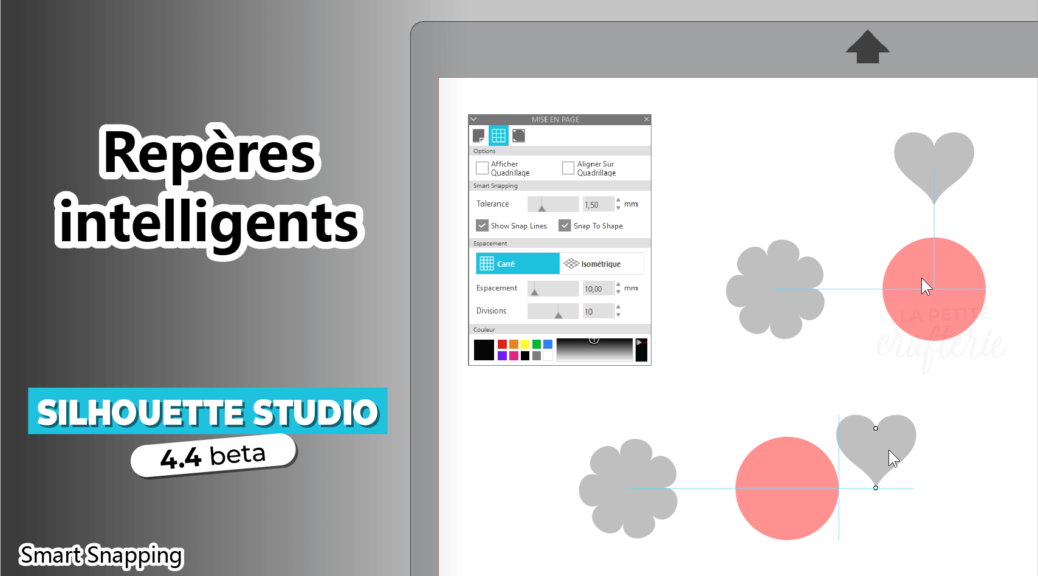 Silhouette Studio 4.4 - Repères intelligents