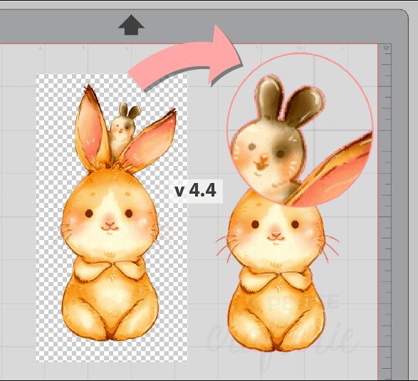 Vectorisation automatique d'une image transparente PNG en version 4.4