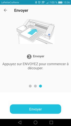 Silhouette Go - Envoi - Etape 3