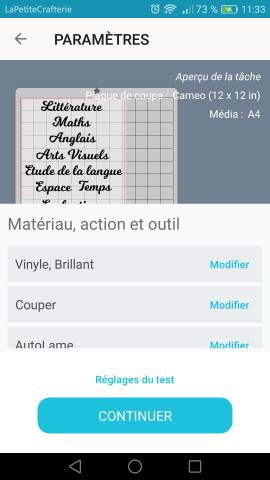 Silhouette Go - Choix du matériaux
