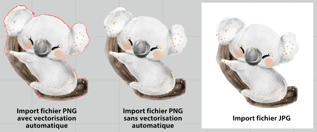 Import fichier PNG