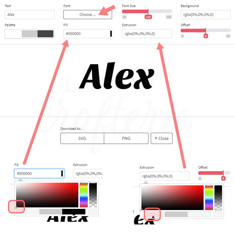 MakeText - Modification de l'aperçu du texte