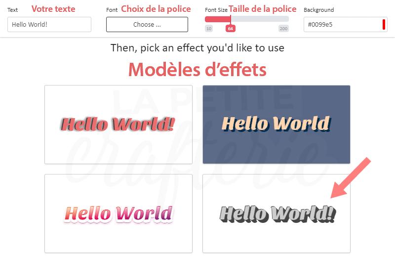 MakeText - Les styles de texte disponibles